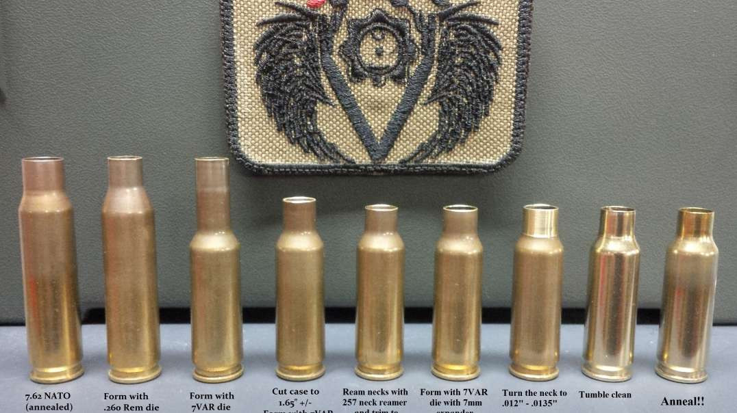 how to convert brass to 7mm Valkyrie