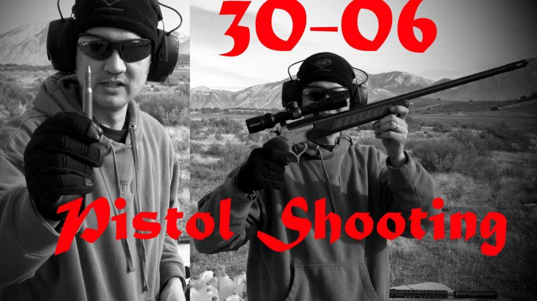 30-06 Pistol 370 Yards with NOE311-175-FN Powder Coated Cast @2025fps!