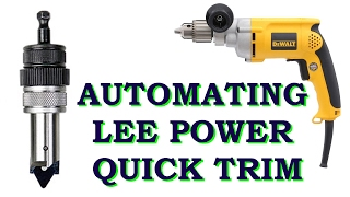 Automating Lee power quick trim - Demo on 300 Blackout and 223/5.56 brass