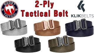 Ghost Reviews:  KLIK Tactical Belt Review:  Concealed Carry and Everyday Wear Belt