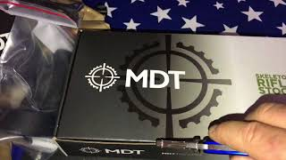 MDT box of upgrades The Weatherby Chassis Rifle Project