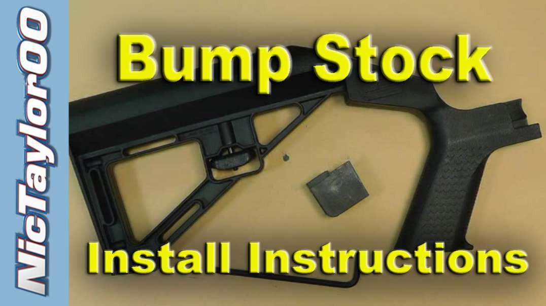 Bumpstock Installation Instructions