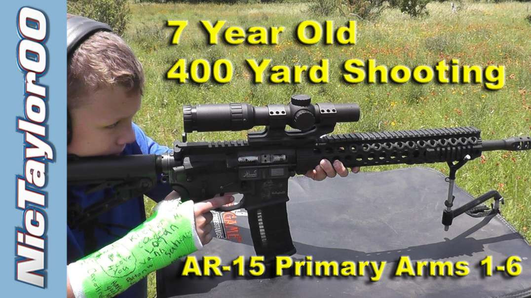7 Year Old Shooting with a Broken Arm at 400 Yards with the Primary Arms ACSS Scope
