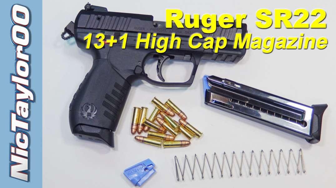 Ruger SR22, 13+1 Round Magazine Upgrade