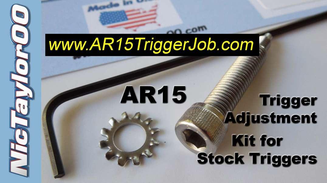 AR15 Trigger Adjustment Grip Screw Install Video