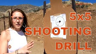 Pistol Shooting Drills - 5x5 Drill - Shooting Colt .380