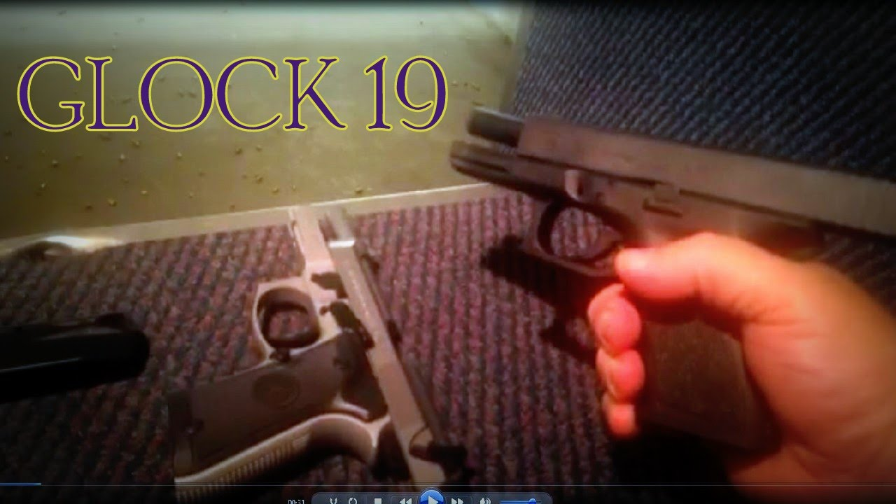Shooting a Glock 19 from the rental case.
