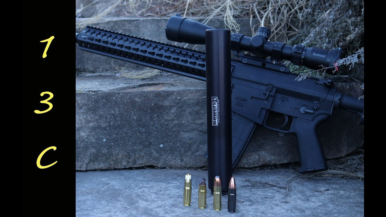 Bowers VERS 458 SOCOM Silencer and CMMG Anvil MkW-15