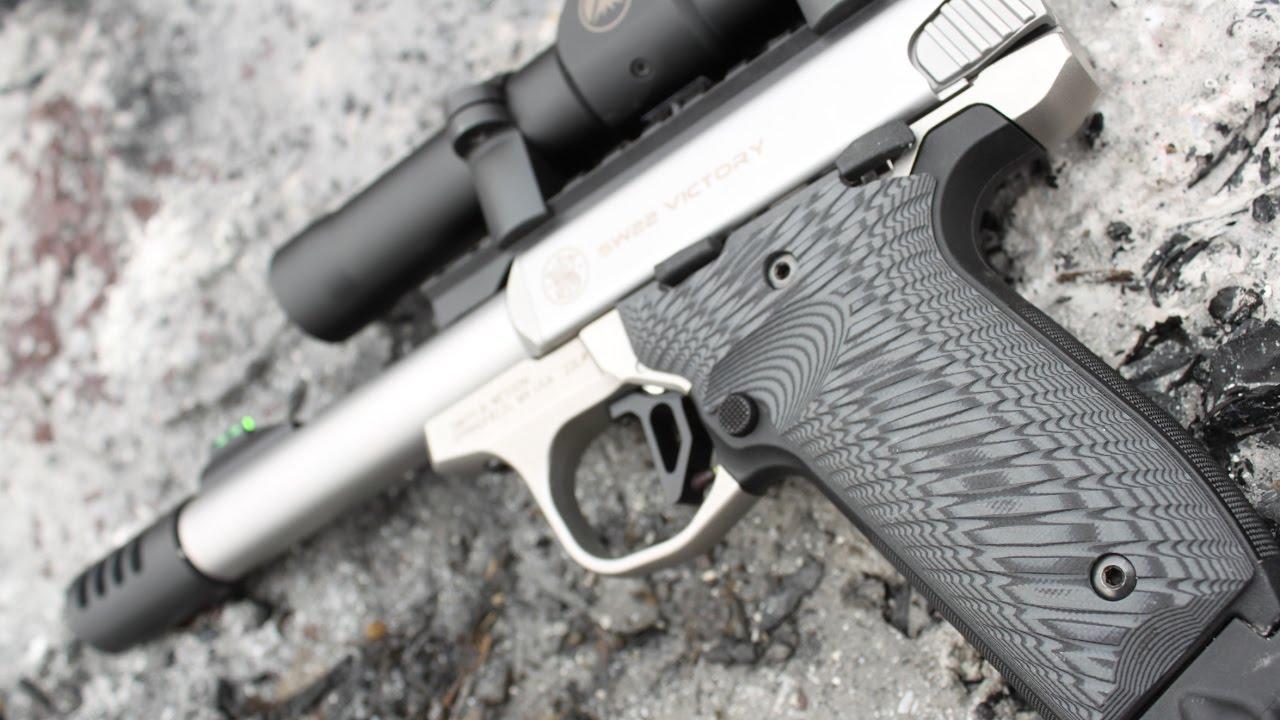 G10 grips for SW22 Victory Bullseye Grips