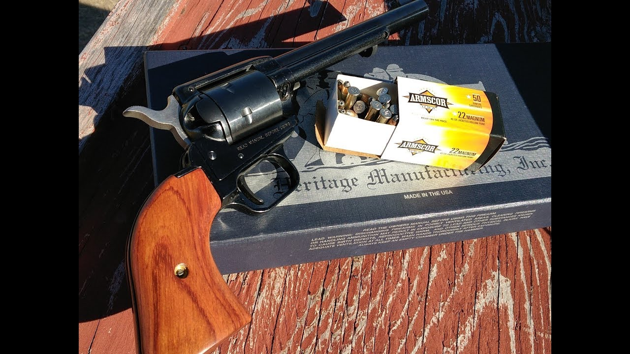 Heritage Rough Rider Revolver, range and accuracy test part 1, Armscore .22mag ammo!