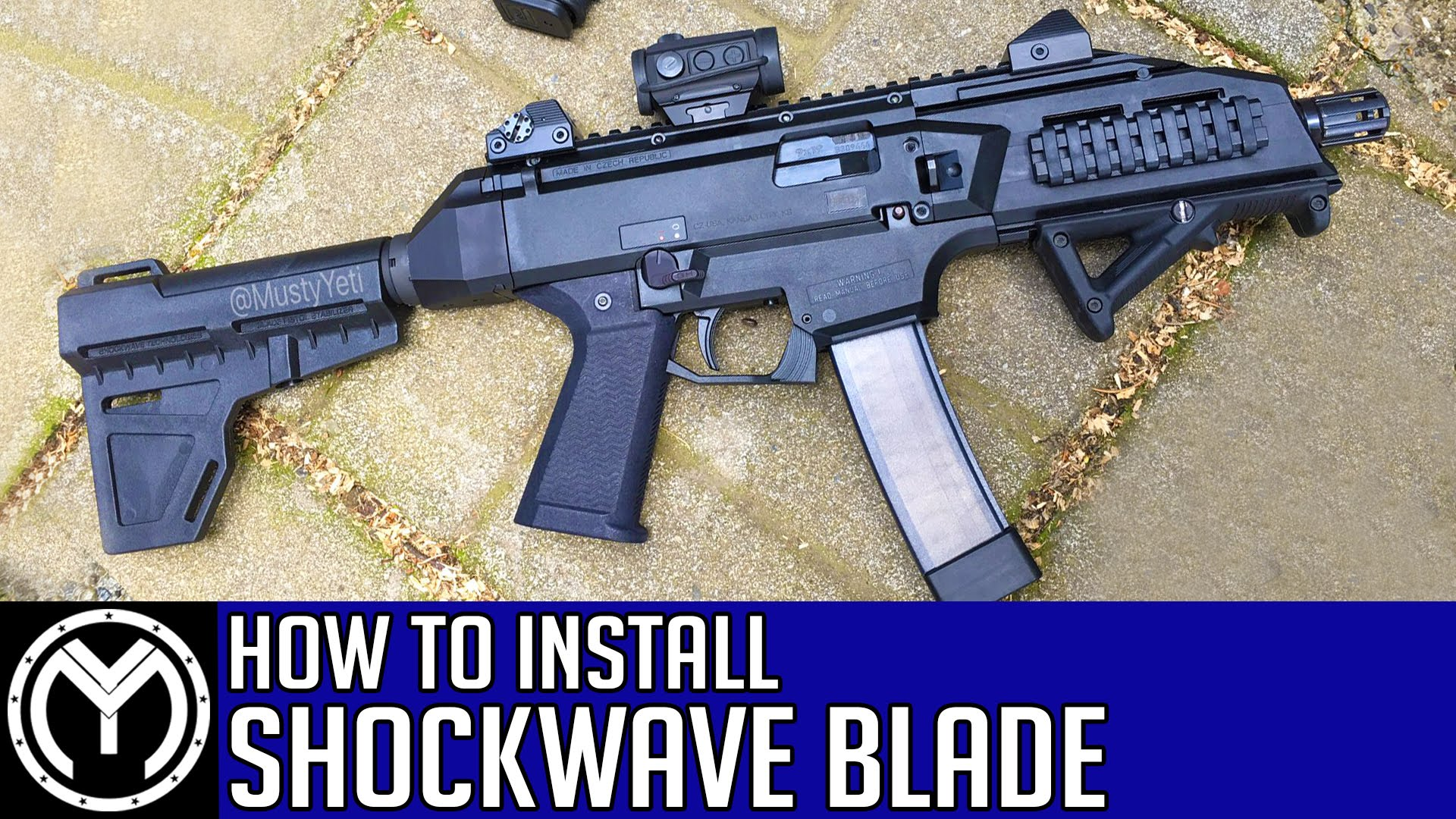 CZ Scorpion EVO 3 | How to Install KAK Industries Shockwave Blade Arm Stabilizer