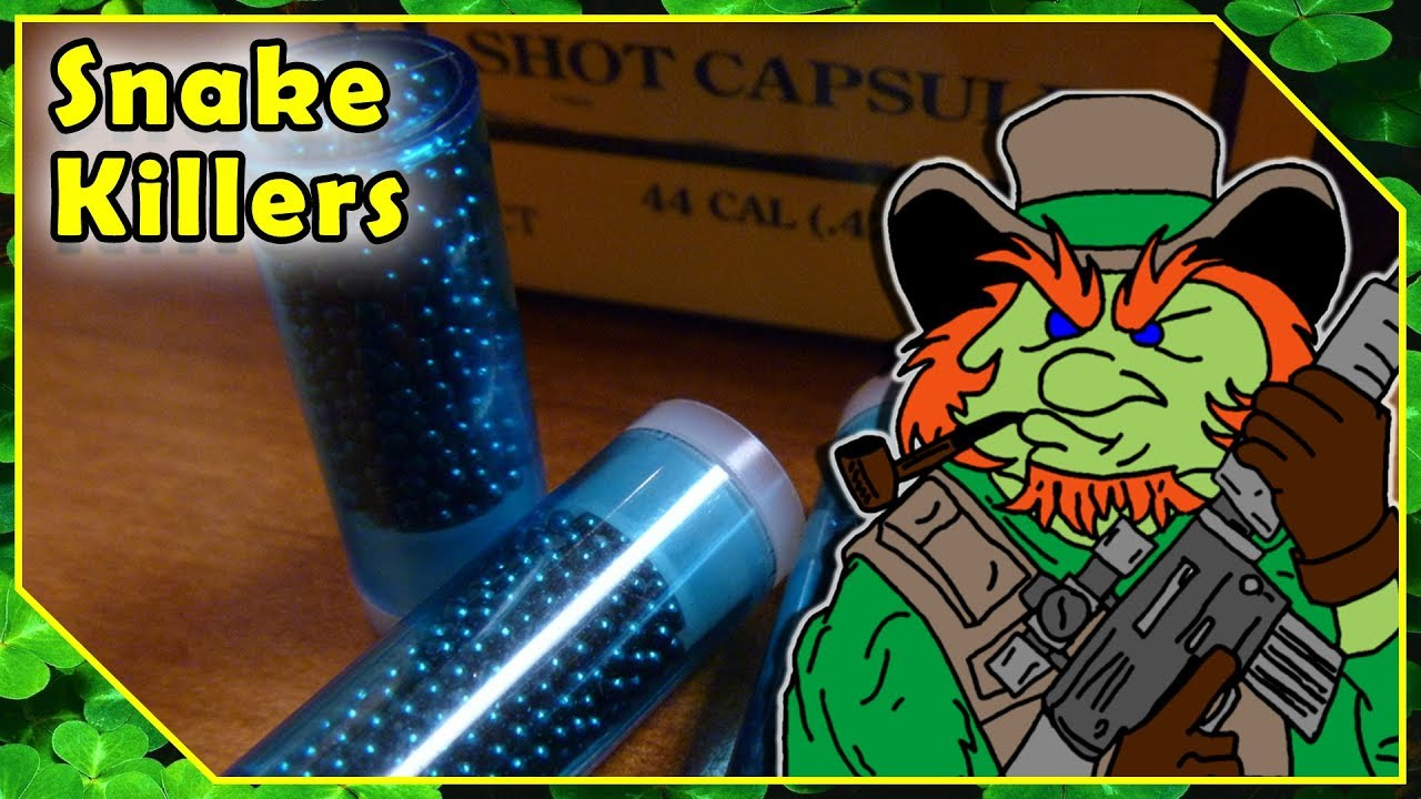 Pistol Shotshell Tests Using Speer Shot Capsules - Great For Snakes & Rodents