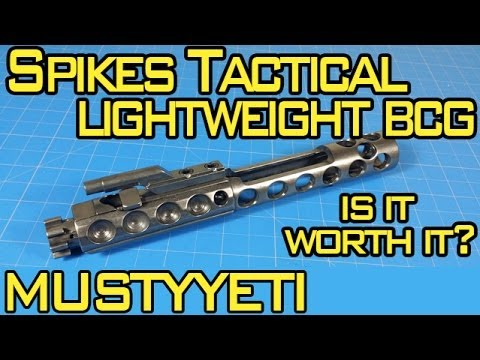 Spikes Tactical Lightweight NiB BCG :: 3lb AR Build pt.2 :: Musty Yeti