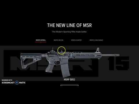 Information and details about the new Savage MSR 15 and Savage MSR 10 rifles!