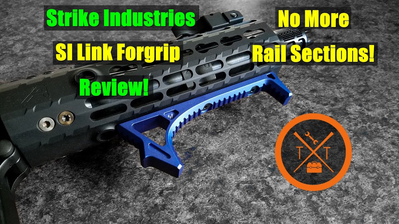 Strike Industries SI Link Curved Foregrip Review! Bye Bye Rail Sections!