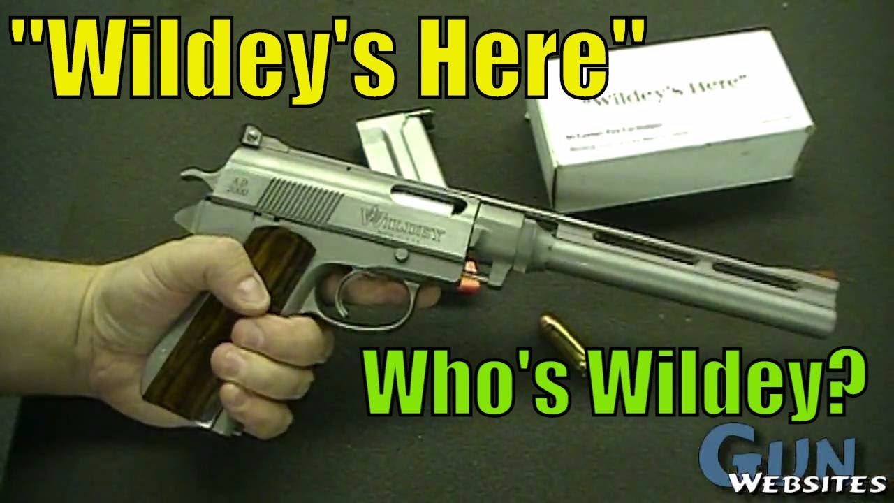 Who's Wildey? .475 Wildey Magnum, the Wildey Hunter, famous pistol Death Wish 3
