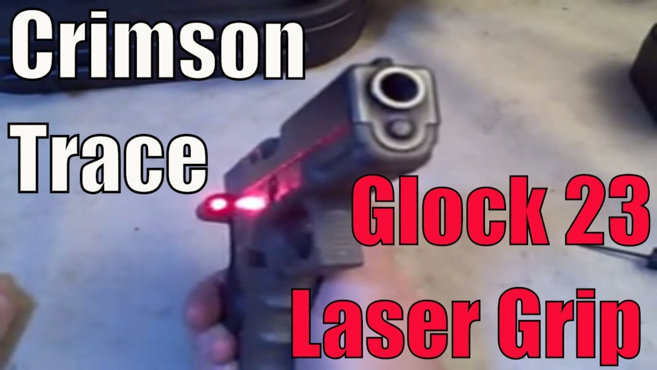 Glock 23 Laser Grip We take a look at Crimson Trace red laser grip on a Glock 23