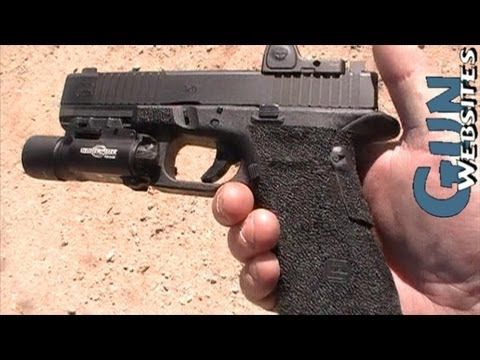 Modified 9mm Glock 19 w/ Trijicon RMR, Surefire Weaponlight with Steve Fisher of Magpul Dynamics