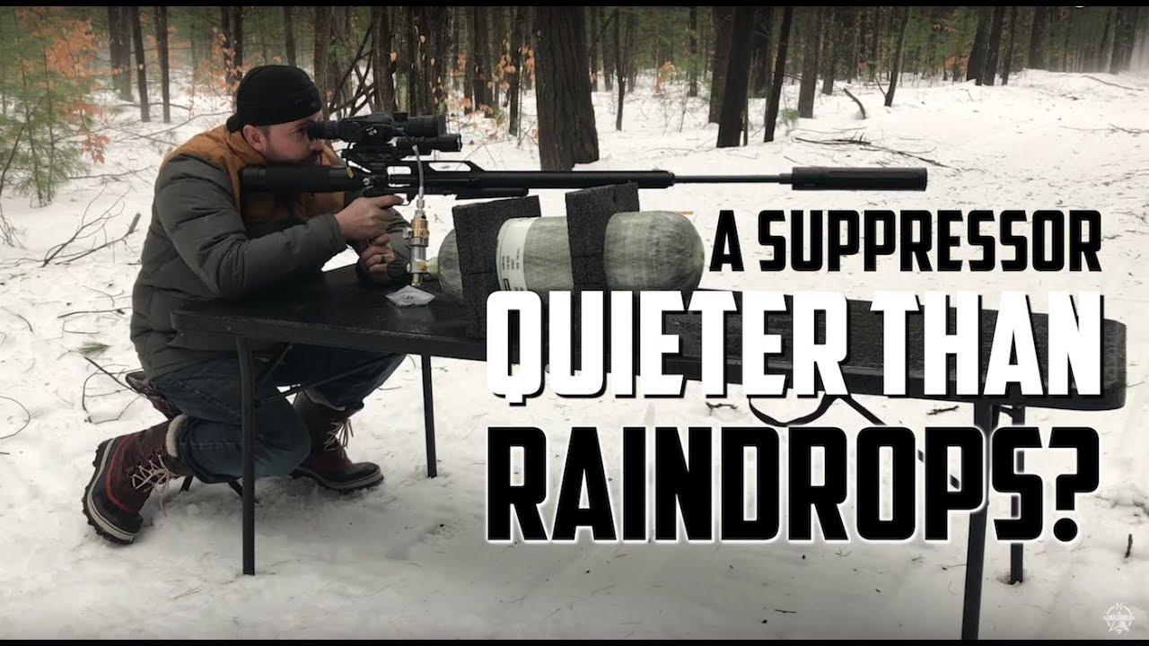 AirForce Texan Big Bore Air Gun Suppressor Quieter Than Raindrops?  DonnyFL Emperor Suppressor