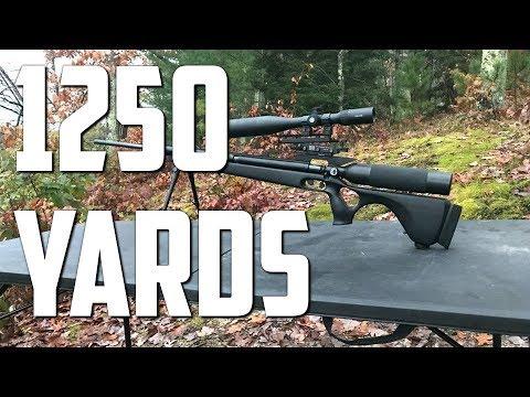 AirForce Texan Big Bore Airgun - 1250 Yard World Record Longest Air Rifle Shot