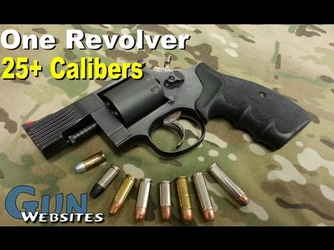 Multi Caliber Revolver, Medusa M-47 Shoots .380 acp, 9mm, 357 magnum, and 25 other calibers