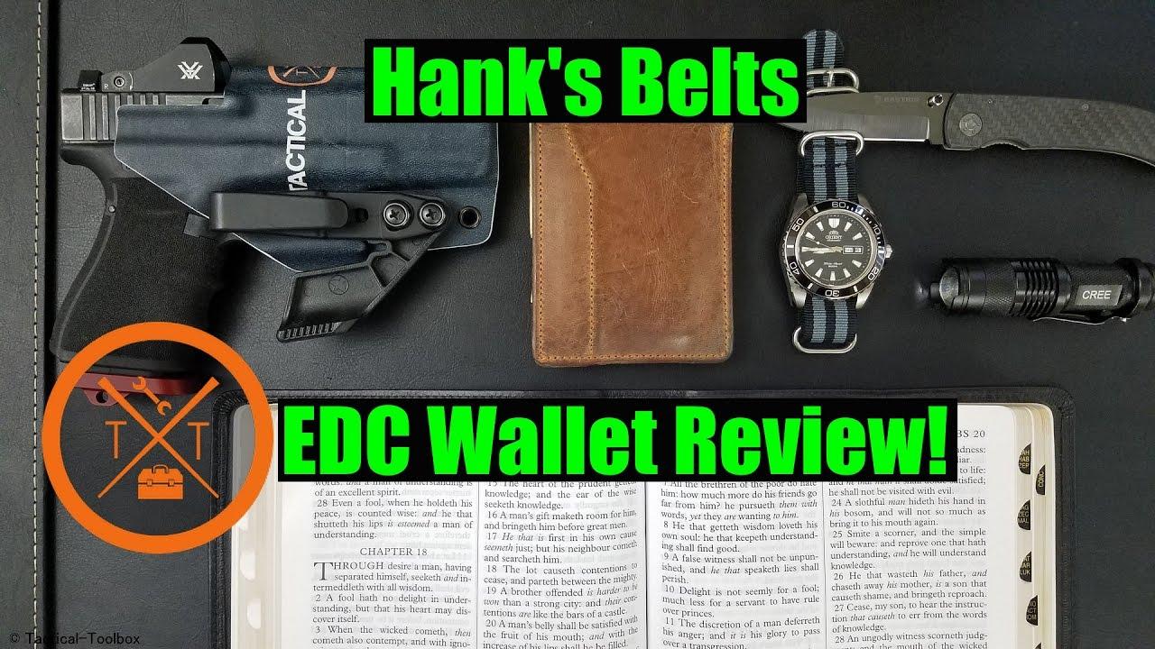 Hanks Belt's: EDC Wallet Review COUPON CODE!
