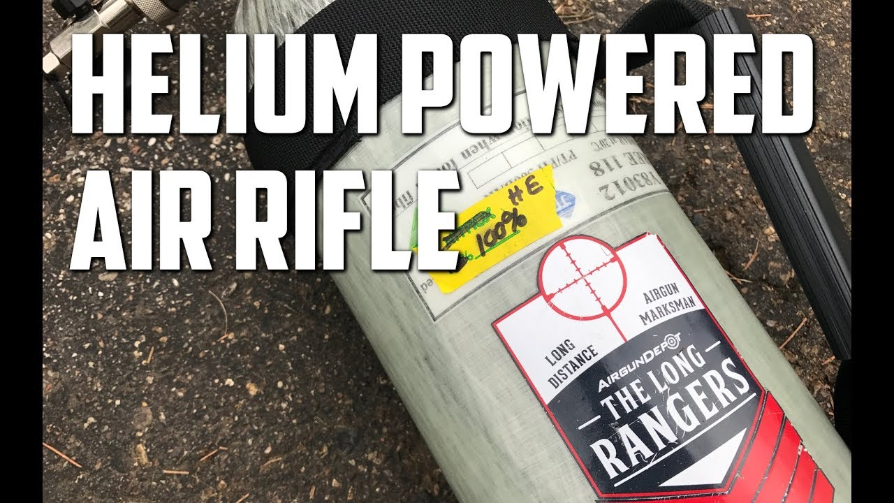 AirForce Texan Air Gun Helium Experiment -  Big Bore .357 Air Rifle