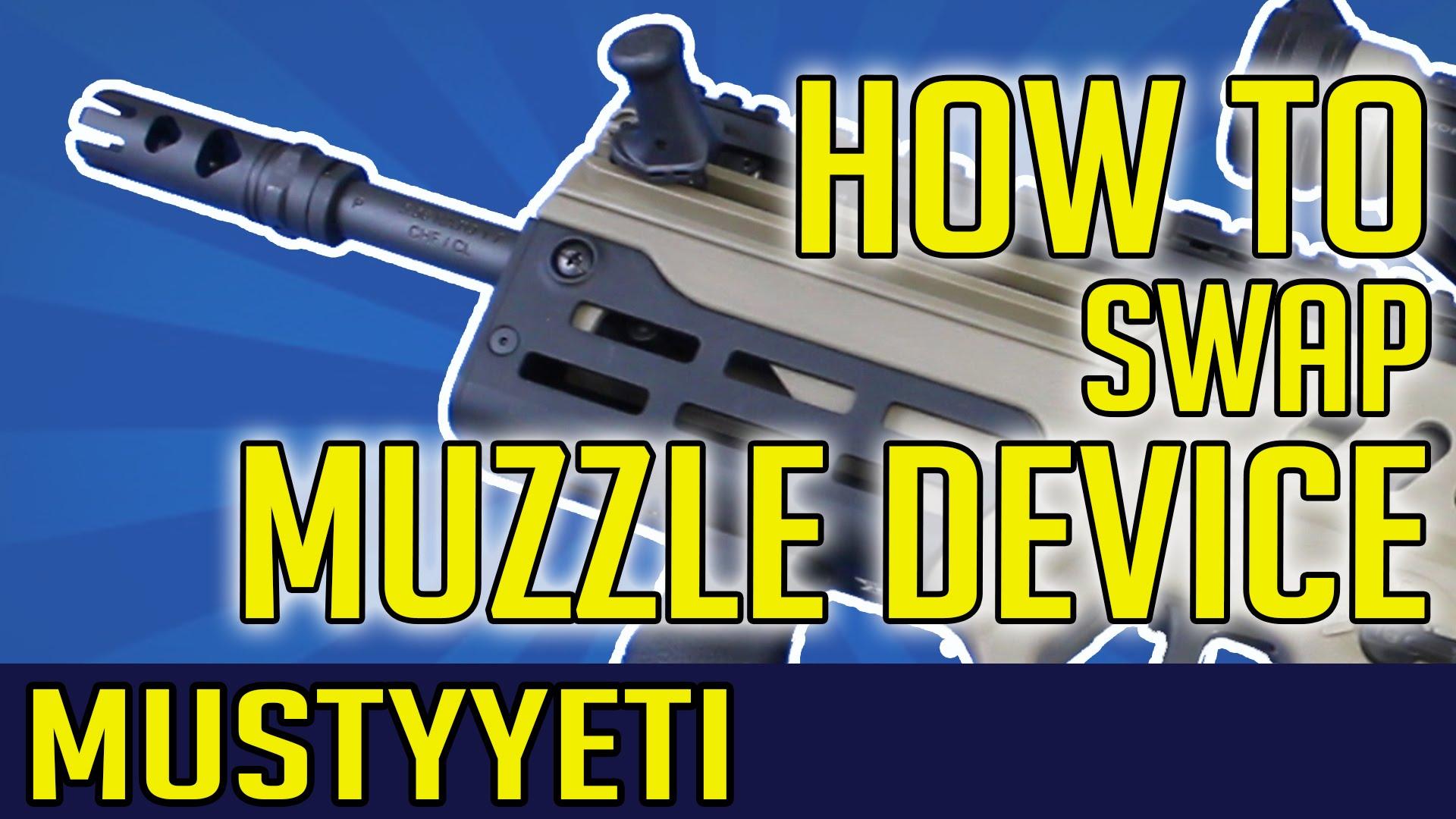 How To Change Muzzle Device   IWI Tavor   MustyYeti