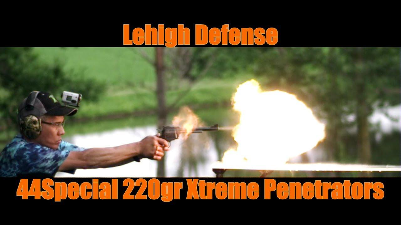 Lehigh Defense 220gr Xtreme Penetrator 44 Special Loads Ruger Super Blackhawk 44 Magnum
