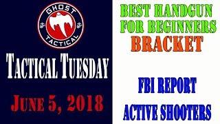 Tactical Tuesday #43:  Best Handgun For Beginners Bracket:  FBI Report on Acitve Shooters
