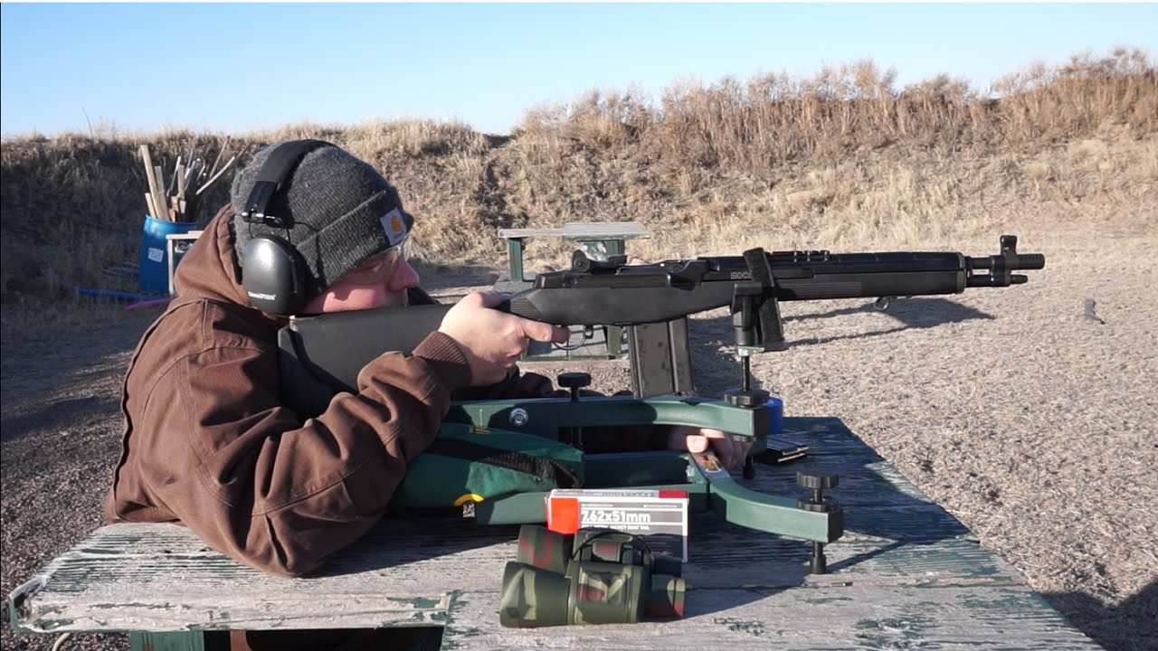 Springfield Armory M1A SOCOM 16 Accuracy Test. Caldwell Lead Sled at 100 Yards!