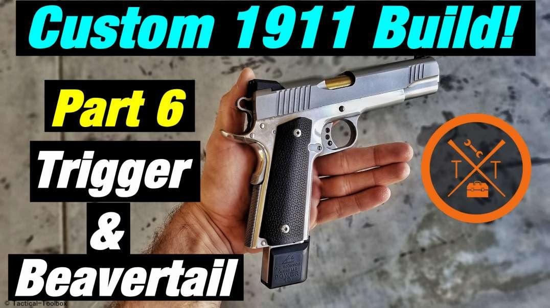 Custom 1911 Build! Part 7 Trigger  Beavertail Fitting