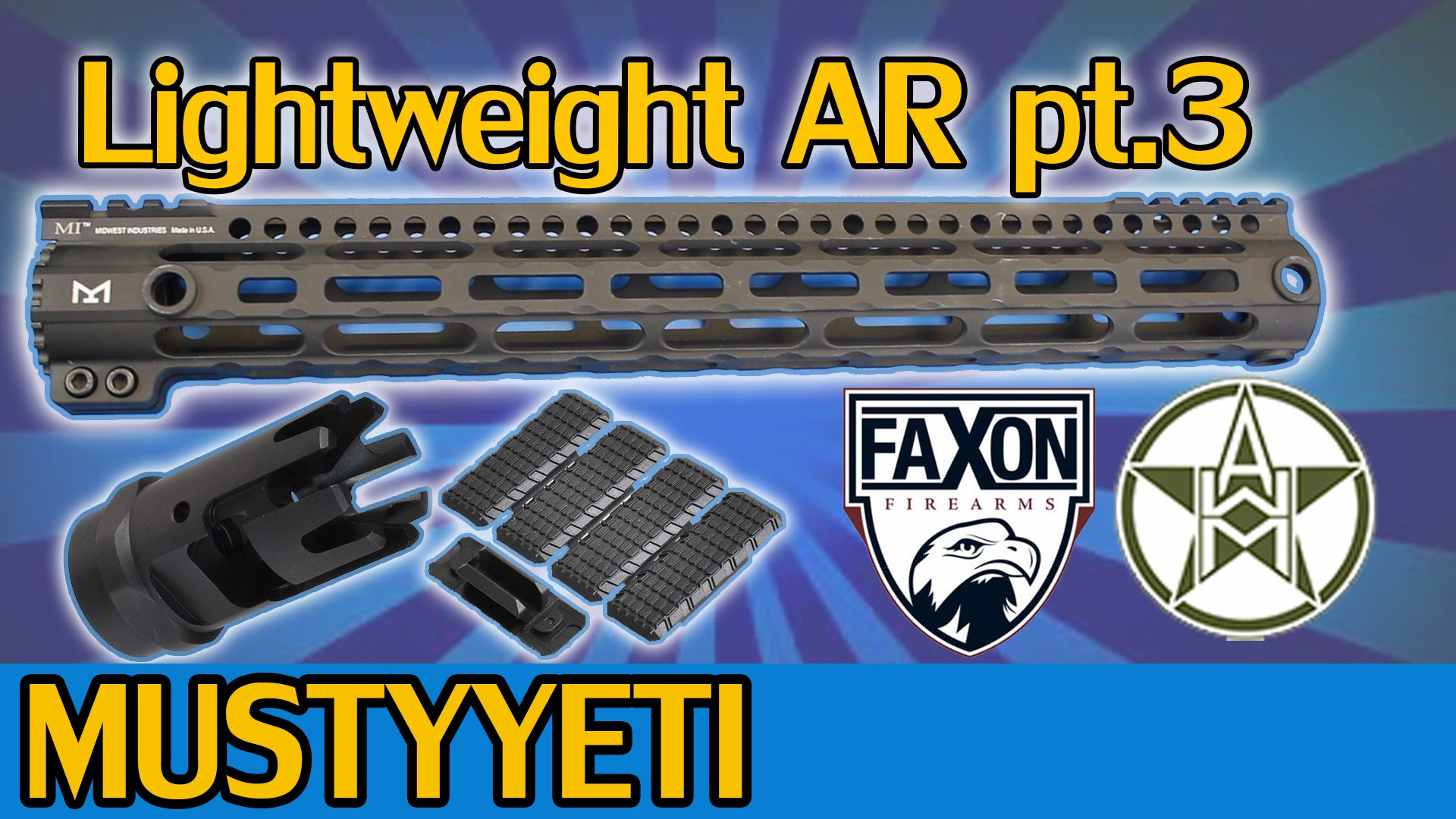 Lightweight AR pt. 3 | WMA Upper, Midwest Industries M-Lok Rail