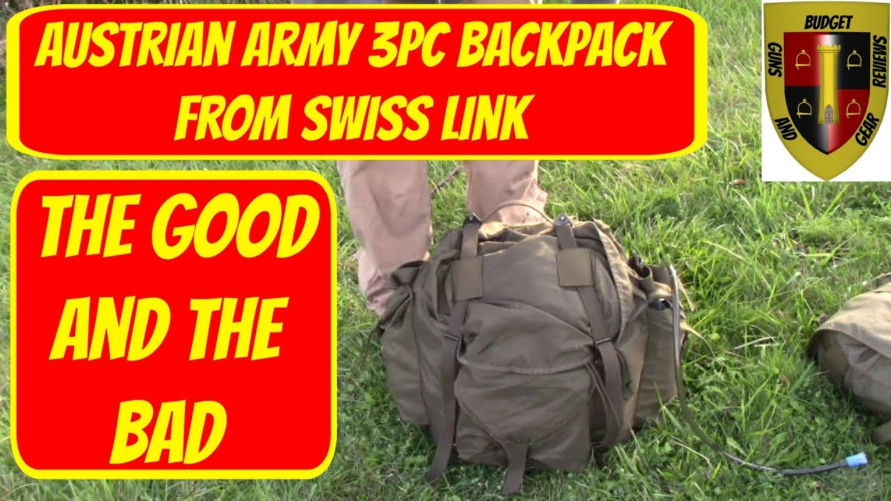 Austrian Army 3pc backpack from Swiss Link review