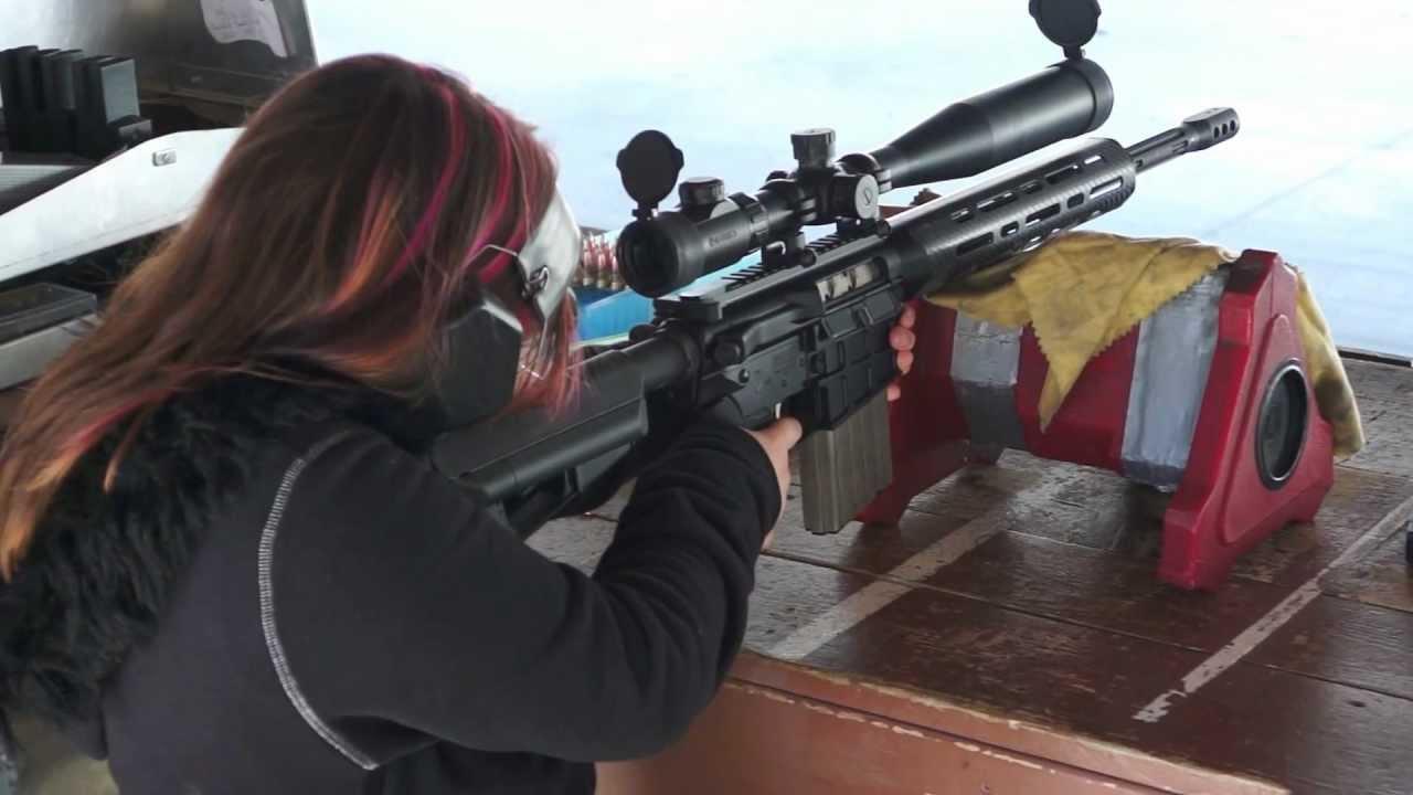 RHINO ARMS 308 RA-5R SHOT BY A 10YR OLD GIRL.