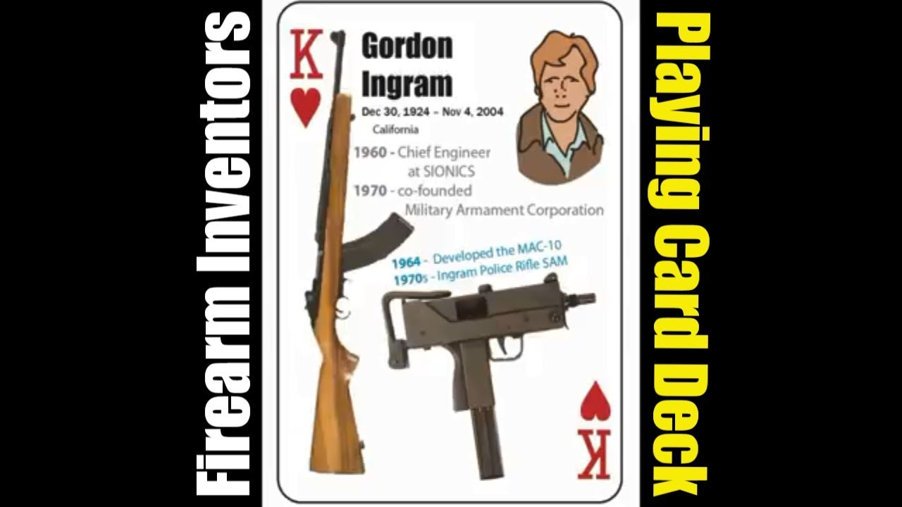 Gordon Ingram - King of Hearts - Firearm Inventors - Playing Card Deck