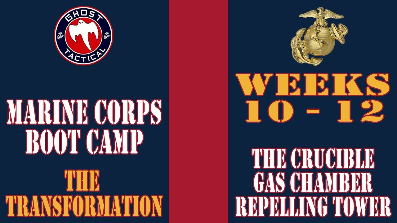 Marine Corps Boot Camp:  Weeks 10-12:  The Crucible, Gas Chamber, and Repelling Tower