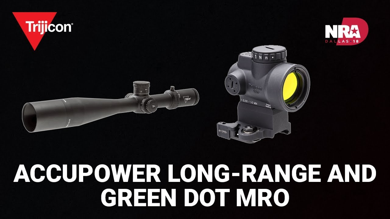 Accupower Long-Range and Green Dot MRO - Trijicon