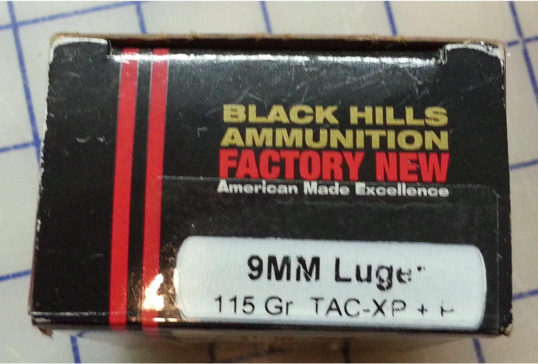 Black Hills Ammo Barnes Tac XP 115 grain 9mm Luger +P Ballistic Gel Test
