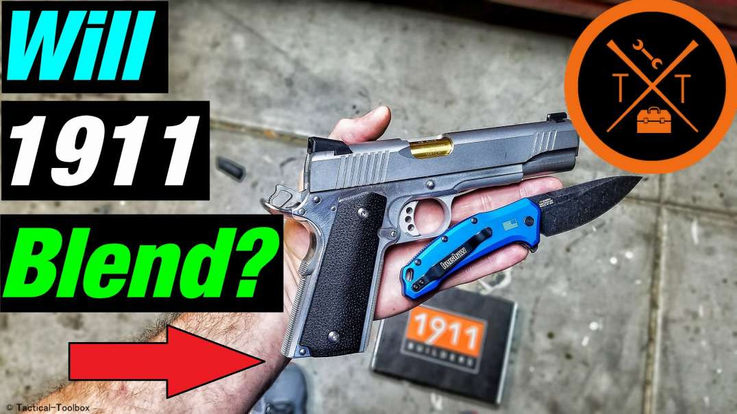 Custom 1911 Build! Part 11 // 1911 Blending Grip Safety