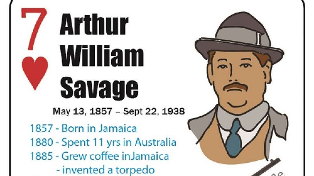 Arthur William Savage - Firearm Inventors - Playing Card Deck