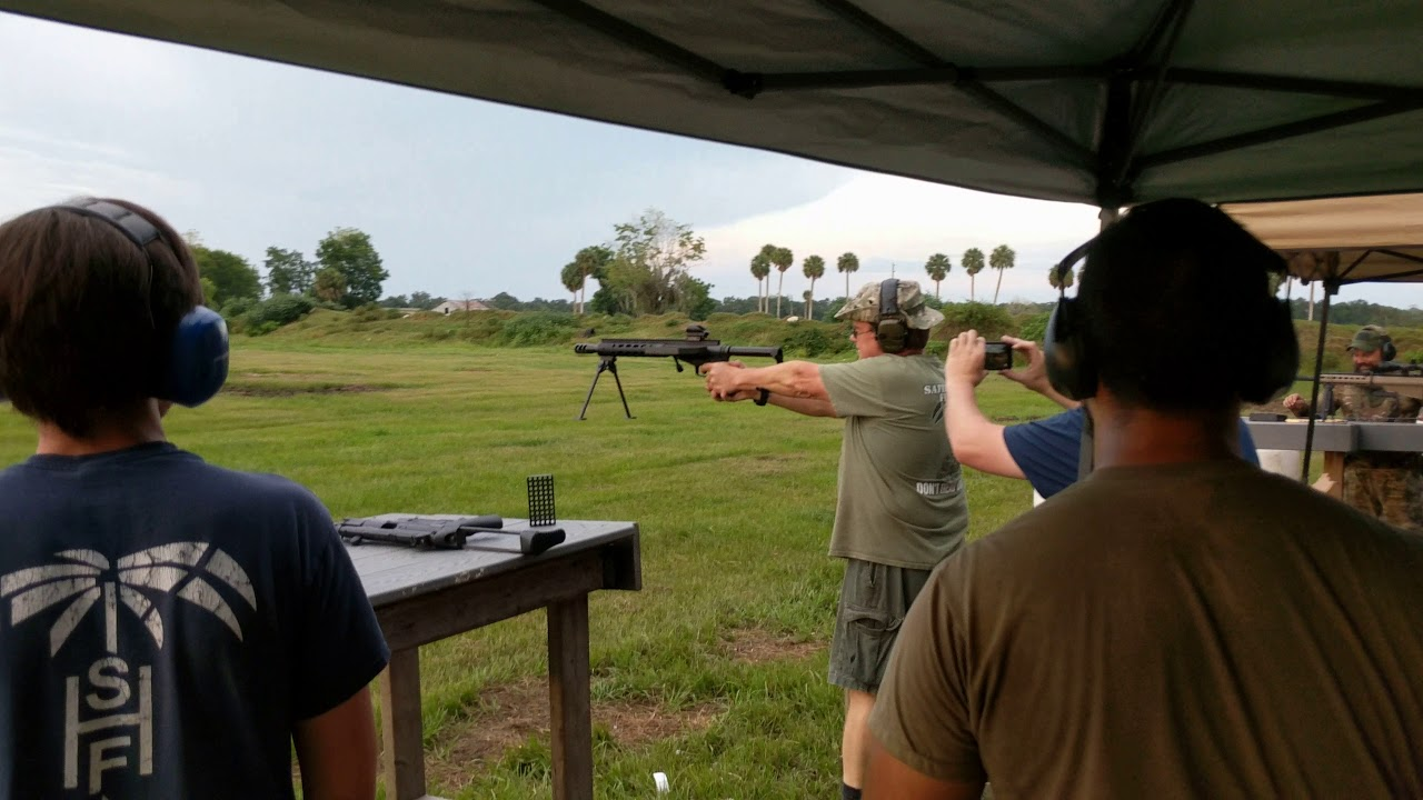 Walter of Safety Harbor Firearms Demonstrates his SHTF .50 Pistol