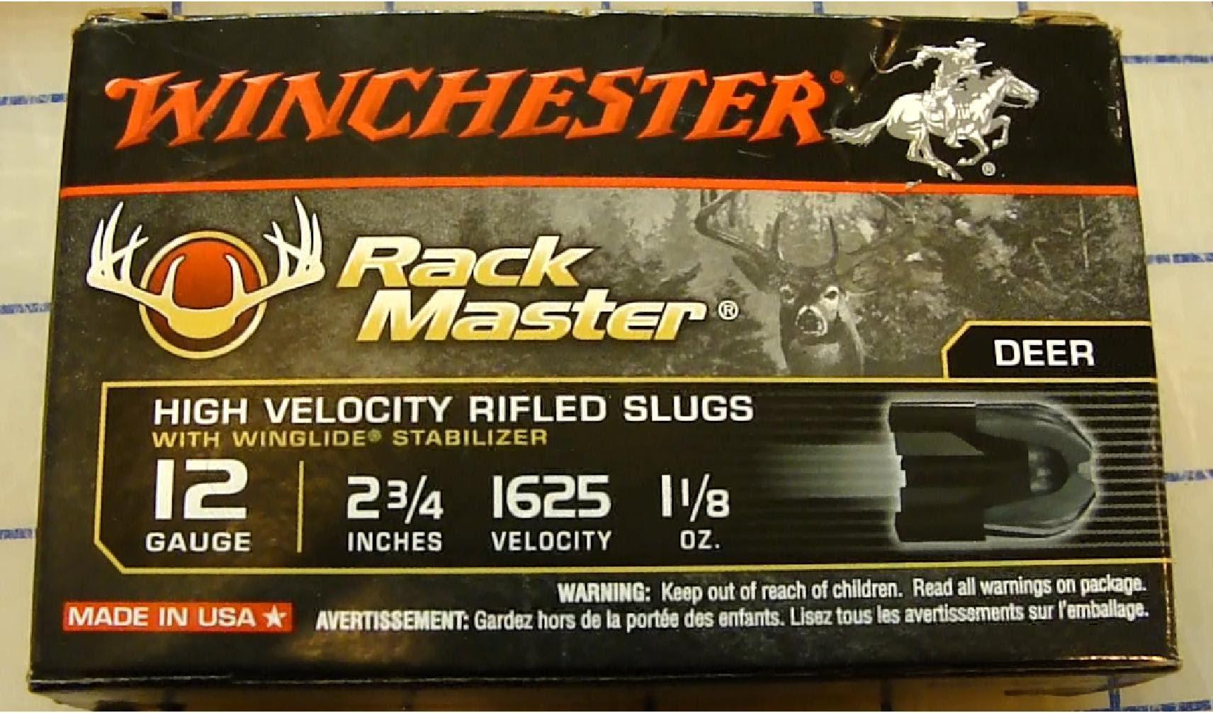 Winchester Rack Master 12ga Slug 1-1/8oz. Gel Test