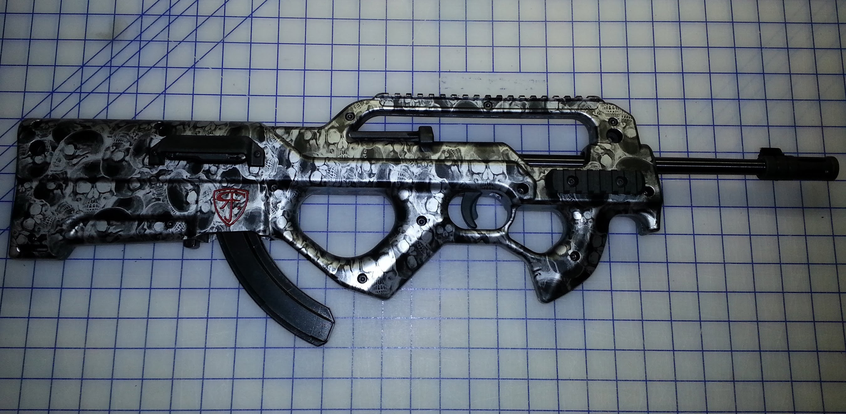 Red Jacket Firearms ZK-22 Bullpup Review and custom hydrographed zombie killer