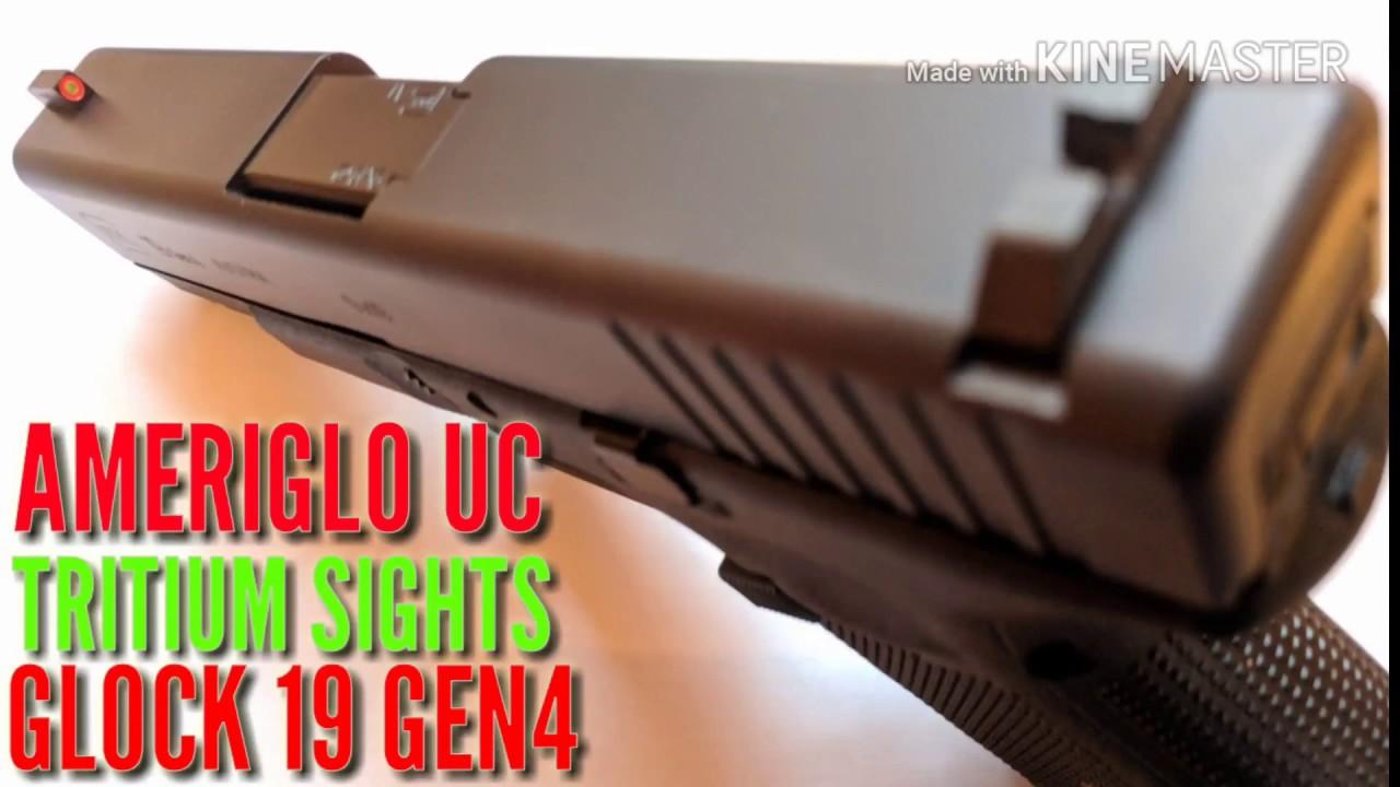 Glock 19 Gen4 AmeriGlo UC ProGloTritium Sight Review