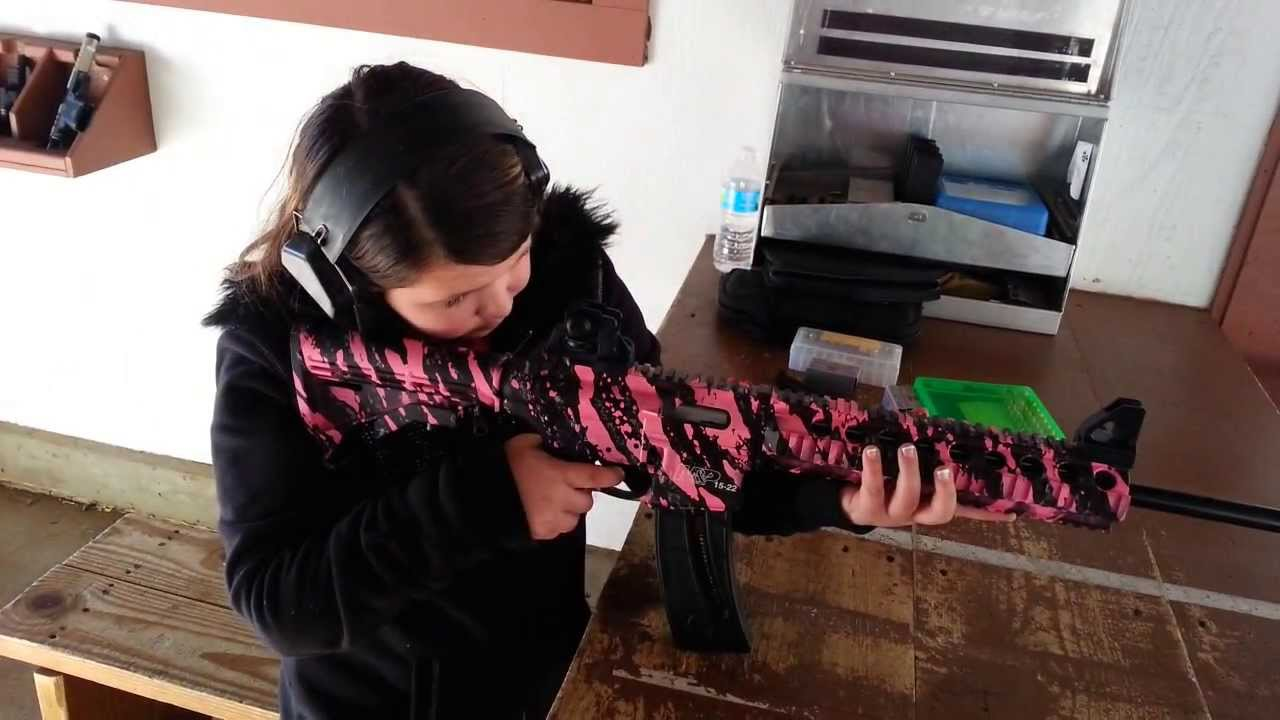 Smith and Wesson m&p15 22 pink camp model