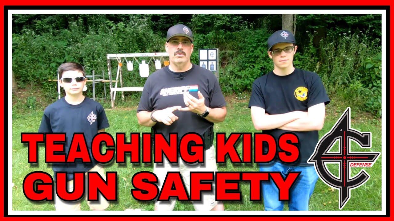 Teaching Kids Gun Safety | M&P 22 CZ Scorpion | #youngguns