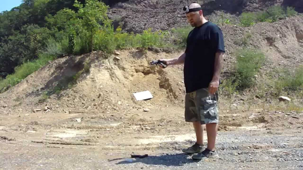Shooting Glock 21  45 to 10mm Conversion