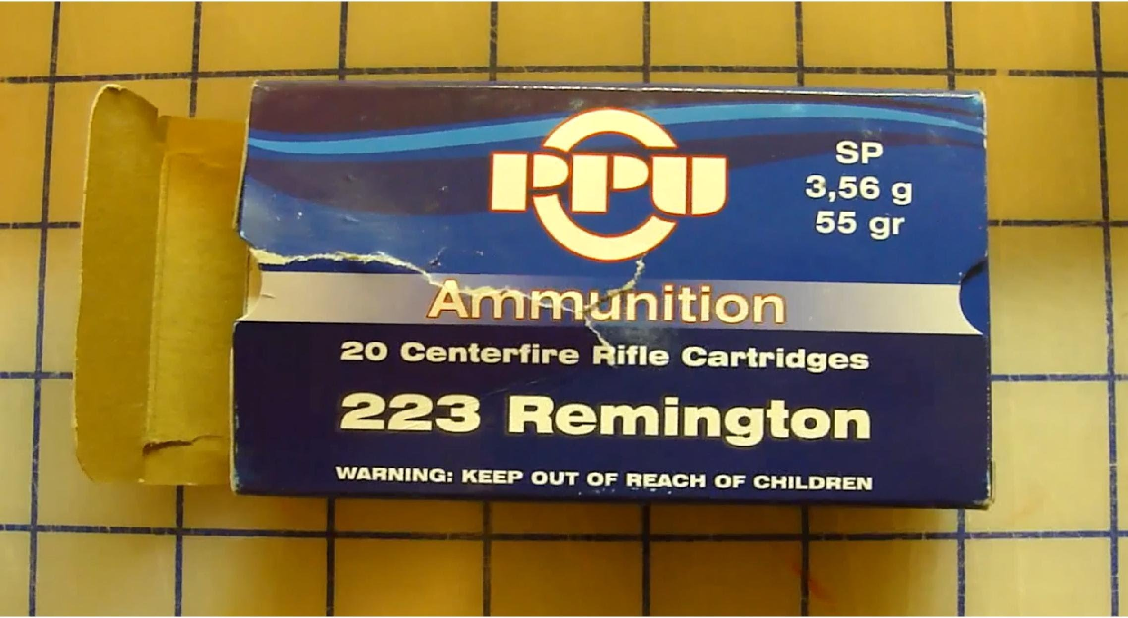 PPU .223 Rem 55 gr Soft Point Ballistic Gel Test