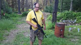 Knee Fighting with AR-15